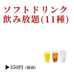 ソフトドリンク飲み放題(11種)